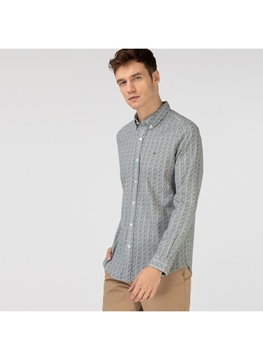 Lacoste Erkek Slim Fit Gömlek CH0196.96Y Yeşil